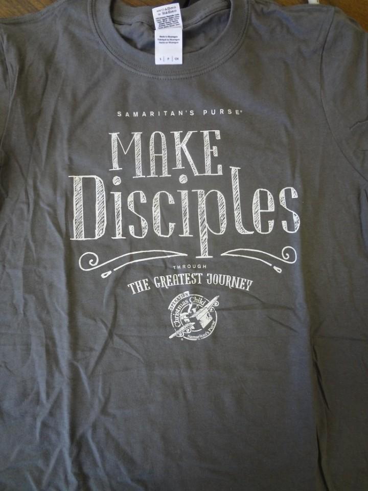 2015 Operation Christmas Child tee shirts.
