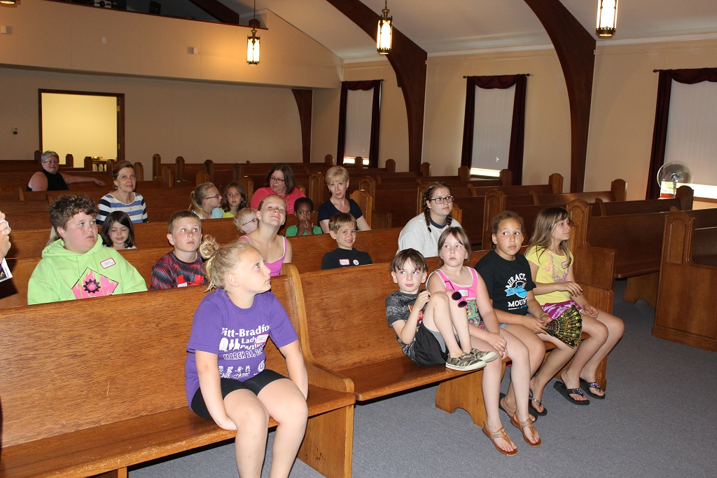 Singing songs together at VBS 2016
