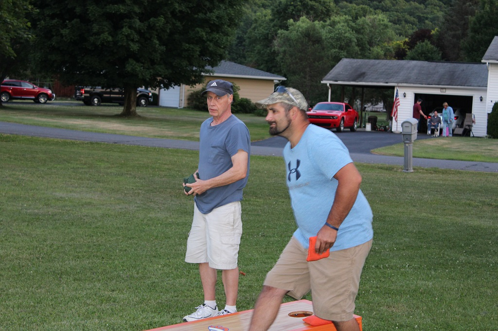 "Playing ""Cornhole"" before the fireworks begin."